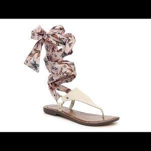 Sam Edelman Giliana Ankle Tie Floral Sandal 10 NIB